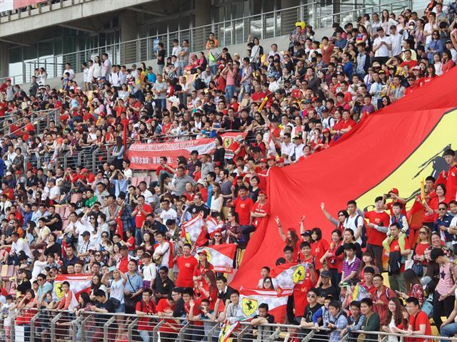 Ferrari corse clienti 2015 a Shangai