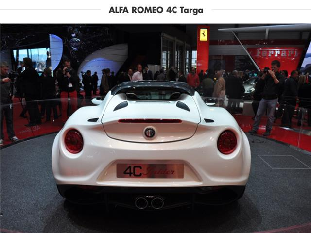 Alfa Romeo 4C Targa riparte da Ginevra