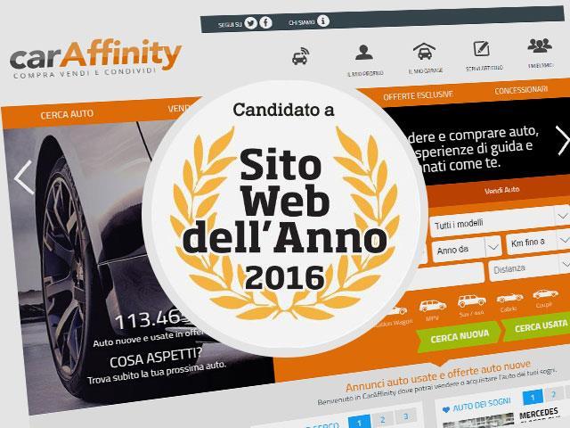 SITO WEB DELL'ANNO 2016: NOMINATION PER CARAFFINITY