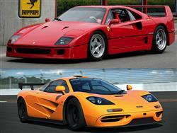 Ferrari F40 vs McLaren F1: il confronto