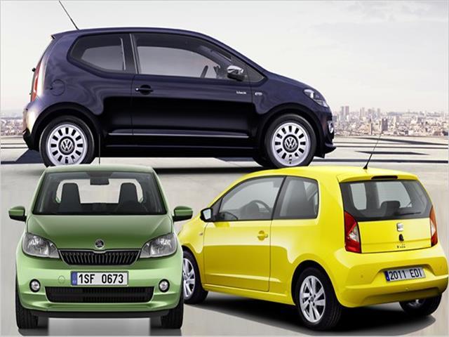 Volkswagen Up!, Skoda Citigo e Seat Mii